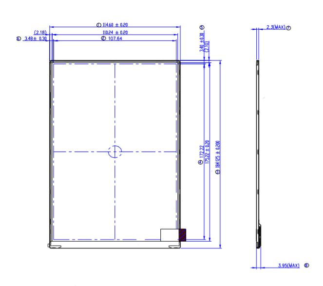 G080UAN02.1友达8寸1200×1920全视角工业液晶屏
