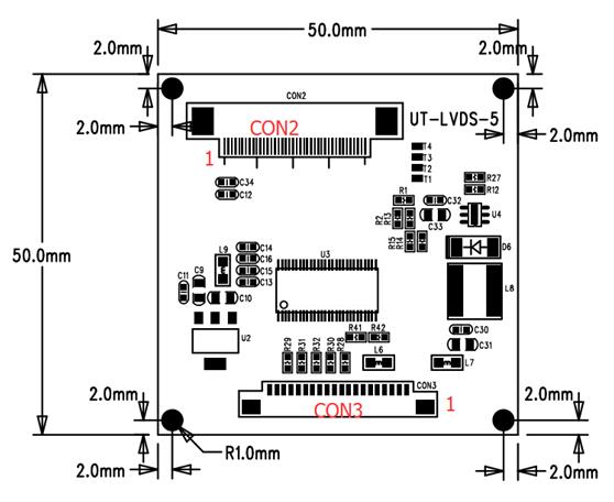 群创4.3寸/天马4.3寸/5寸工业液晶屏RGB转LVDS